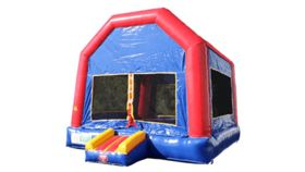 Image of a Blue Bounce House