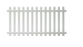Image of a Fencing, White Event 8'