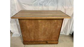 """Image of a Bar, Portable Rustic wood, Oak top 50""""x25"""""""