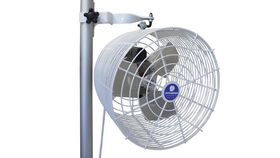 "Image of a Fan, White Pole mount, 12"" Tent Fan"