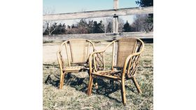 Image of a Rattan Chairs (Pair)