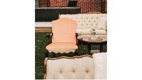 Image of a Blush Pink Arm Chair