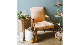 Image of a Blush Peach Arm Chair
