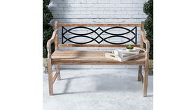Image of a Wood & Metal Bench