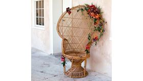 Image of a Peacock Wicker Chair (LG)