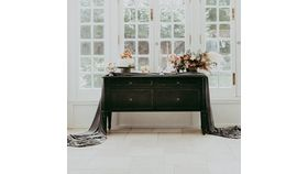 Image of a Black Buffet