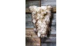 "Image of a Real Sheepskin 48"" (cream/brown tips)"