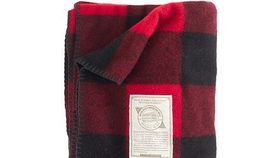 Image of a Red Plaid Buffalo Check Blanket