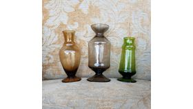 Image of a Colored Bud Vases (Set of 3)