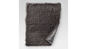 Image of a Brown Fur Throw (faux)