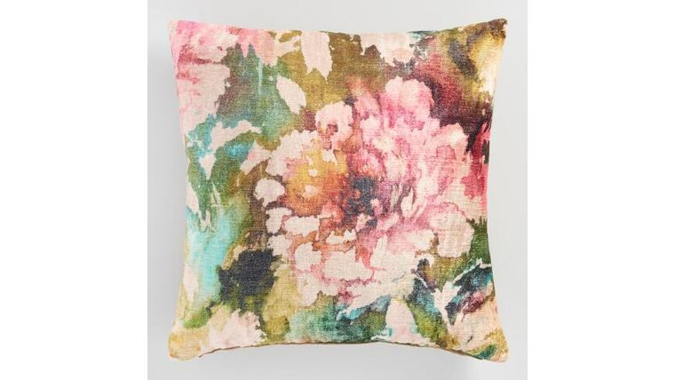 """Picture of a Floral Accent Pillow 20"""" Square"""