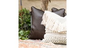Image of a Brown Velvet Accent Pillows 20""