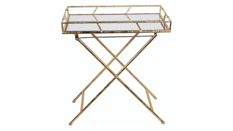 Picture of a Gold Mirror Tray Table