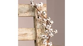 Image of a Cotton Ball Garland