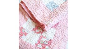 Image of a Pink Patch Quilt