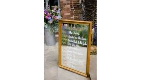 Image of a Gold Framed Mirror Sign (11x14)