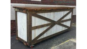 Image of a Barn Door Rolling Bar