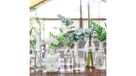 Image of a Clear Vintage bud vases