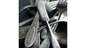 Image of a Aged Silver Plate Flatware Sets