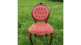 Image of a Rose Victorian Parlor Chair