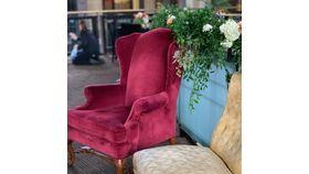 Image of a Burgundy Velvet Chairs