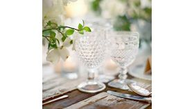 Image of a Clear Vintage Drinking Goblets