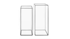 "Image of a Modern Black Frame Rectangular Glass Vase 16"""