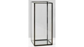 "Image of a Modern Black Frame Rectangular Glass Vase 12"""