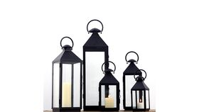 "Image of a Metal 14.5"" Lantern"