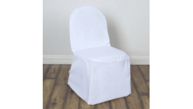 Image of a Banquet Chair Cover - Ivory