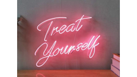 """""""Treat Yourself"""" Neon Sign image"""