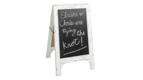 Image of a Whitewashed Chalkboard