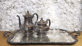 Image of a Large Silver Butler's Tray