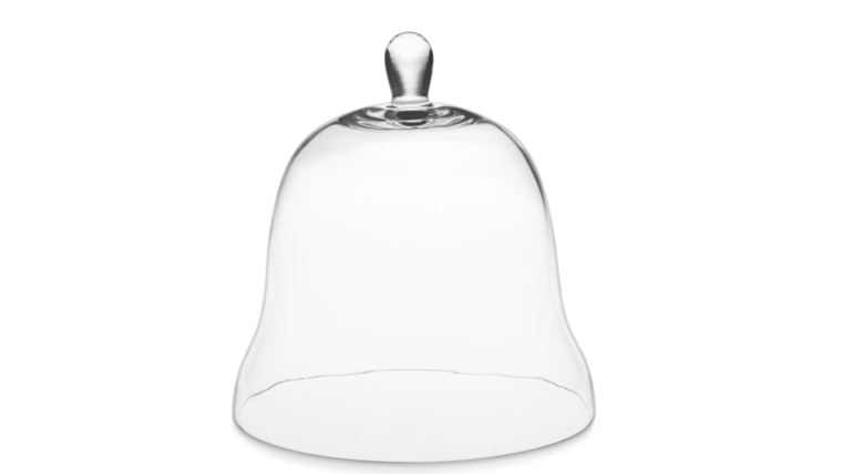 """Picture of a 11.75"""" Glass Bell Cloche"""