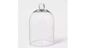"Image of a 8.75"" D Glass Dome Cloche"