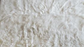 Image of a Faux Fur Rug - Off White