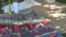Image of a Brown Woven Rug