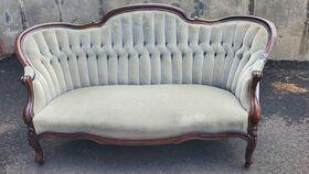 Image of a Tufted Velvet Vintage Settee