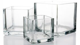 Image of a Cube Glass Vase