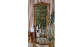 """Gilded """"Champagne Bar"""" Mirror image"""