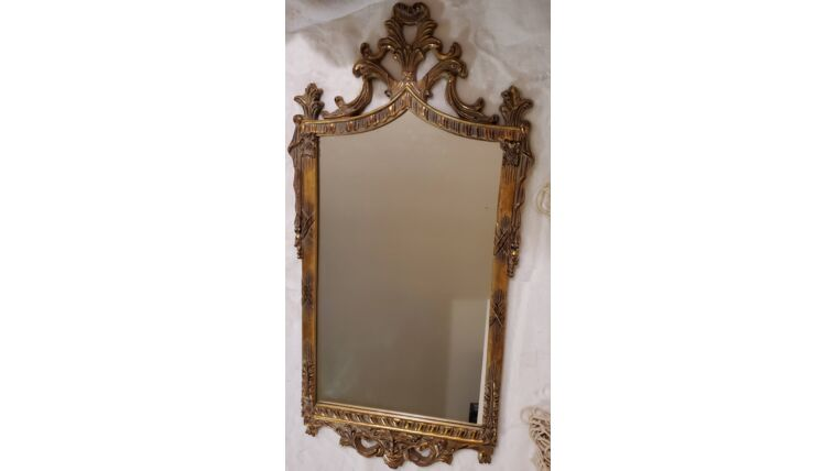 Picture of a Tall Gilded Mirror