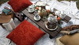 Image of a Low Boho Table