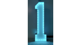 Image of a #1 Marquee with LED Light Strip
