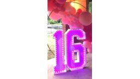 Image of a #6 Marquee Number with LED Light Strip