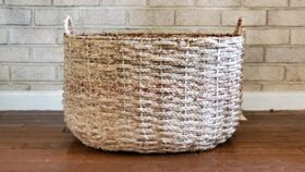 Image of a Large Wicker Bin