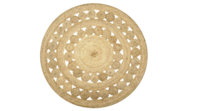 Image of a Round Braided Jute Rug