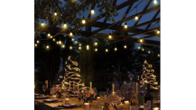 Image of a 100' Color Changing Bistro Lights