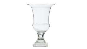 Image of a Large Glass Hurricane Chalice Vase