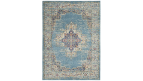 Image of a Aged Area Rug - Blue