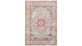 Image of a Aged Area Rug - Pink and Gray